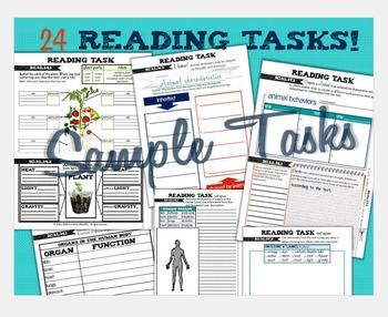 Interactive Science Notebook Grades 3-5 ELA & LIFE Science Blended Tasks