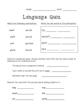 ELA Language Assessment