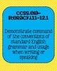 Common Core ELA Language Standards Posters 11th grade, 12th grade