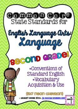 Common Core ELA Language Standards Posters 2nd grade
