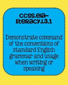Common Core ELA Language Standards Posters 3rd grade