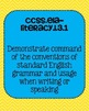 Common Core ELA Language Standards Posters 3rd grade