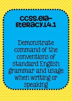 Common Core ELA Language Standards Posters 4th grade