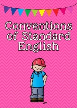 Common Core ELA Language Standards Posters 5th grade