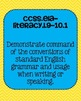 Common Core ELA Language Standards Posters 9th grade, 10th grade