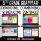 ELA Language Common Core Task Cards 5th Grade {L.5.3 Combining Sentences & More}