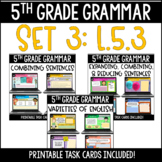 ELA Language Common Core Task Cards 5th Grade {L.5.3 Combi