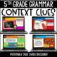 ELA Language Common Core Task Cards 5th Grade {L.5.4 Context Clues & More}