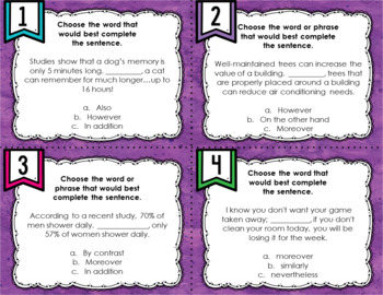 ELA Language Common Core Task Cards 5th Grade {L.5.6 Academic Vocabulary}