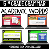 ELA Language Common Core Task Cards 5th Grade {L.5.6 Acade