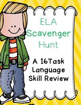 ELA Language Skills Review Scavenger Hunt