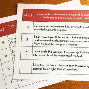 ELA Learning Scales Bundle 6