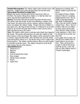 ELA-Lesson Plan-Abstract Nouns