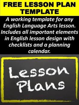 FREE ELA Lesson Plan Template