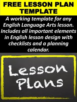 FREE ELA Lesson Plan Template