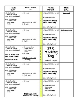 Lesson Plan Template for 1st Grade