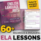 ELA Lessons Bundle: 60+ Individual Lesson Packs {Great for Sub Plans}