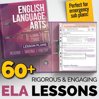 ELA Lessons Bundle: 60+ Individual Lesson Packs {Great for Sub Plans}