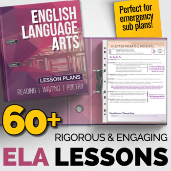 ELA Lessons Bundle: 60+ Individual Lesson Packs {Great for