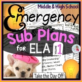 Emergency Sub Plans for ELA Lessons Bundle
