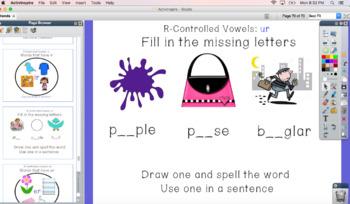 ELA-Letter Teams: Dipthongs Interactive Activities Phonics