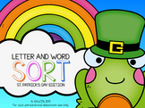 ELA - Letter and Word Sort (St. Patrick's Day Edition)
