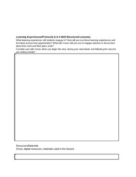 ELA/Literacy Backwards Design Common Core Lesson or Unit Planning Template