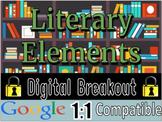 ELA Literary Elements Digital Breakout - Test Prep