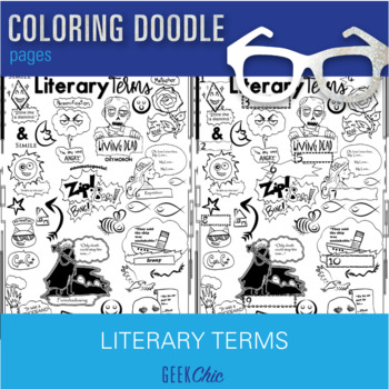 ELA Literary Terms Brain Breaks Coloring Doodle Pages!