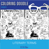 Literary Terms Brain Breaks Coloring Doodle Pages!