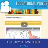 ELA Literary Terms Self Grading GOOGLE QUIZ!