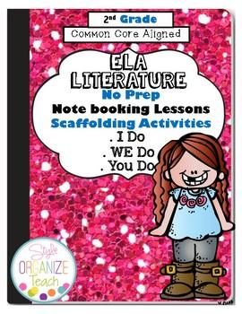 ELA Literature Common Core Standards Interactive Notebook