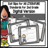 ELA {Literature} DIGITAL Exit Tickets for Second Grade