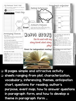 ELA Literature Study Unit - Use with ANY Work of Literature
