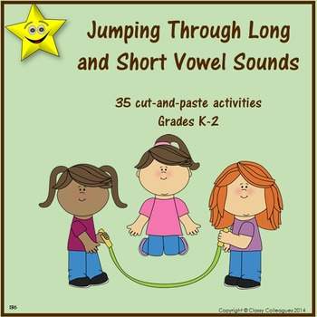 Long and Short Vowels Cut and Paste Activities