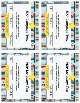 ELA MAP Growth Goal Certificates