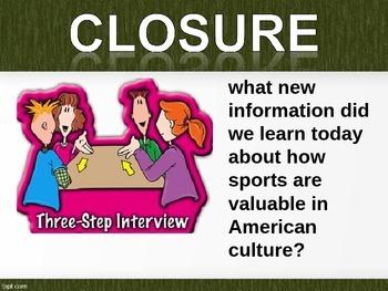 ELA MODULE 3 Unit 1_Sports in American Culture