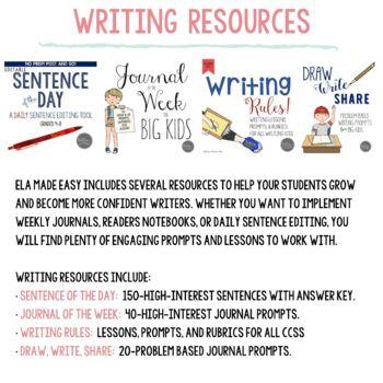 ELA Made Easy: Language Arts Full Year VALUE Bundle