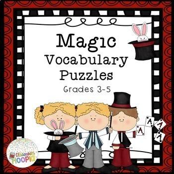 ELA Magic Vocabulary Puzzles