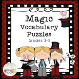 ELA Magic Vocabulary Puzzles