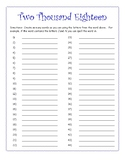 ELA Making Words / Working With Words New Year 2018 Activity Sheet