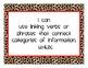 ELA & Math 4th CCS I Can Animal print theme