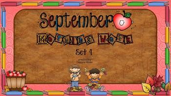ELA & Math Morning Work September SET FOUR