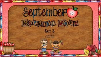 ELA & Math Morning Work September SET THREE