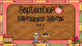 ELA & Math Morning Work September SET TWO