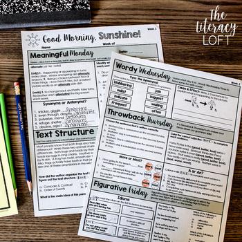 ELA + Math Morning Work 4th Grade {The Bundle}