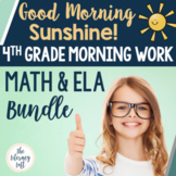 ELA + Math Morning Work 4th Grade {The Bundle}