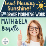 ELA + Math Morning Work 5th Grade {The Bundle}