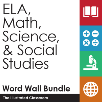 ELA, Math, Science, & Social Studies Word Walls Bundle
