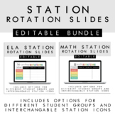 ELA & Math Station Rotation Slides + Back to School + Dist